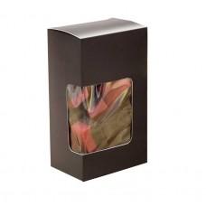 Kapsel med vindu 60x40x105 mm matt svart 100-pakker