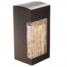 Kapsel med vindu 80x70x160 mm matt svart 100-pakker