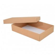 Sober eske og lokk 159x112x32 mm naturlig brun (100-pakke)