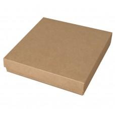 Sober eske og lokk 125x125x25 mm naturlig brun (100-pakke)