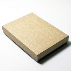 Sober eske og lokk 220x160x32 mm naturlig brun (100-pakke)