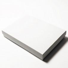 Sober eske og lokk 220x160x32 mm hvit (100-pakke)