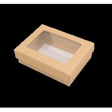 Sober eske og lokk vindu 112x82x25 mm hvit (100-pakke)