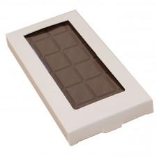 Esker til sjokoladeplater160x80x15 mm hvit blank (100-pakke)