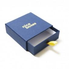 Smykkeeske Drawer Box 71x71x28 mm marineblå