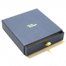 Smykkeeske Drawer Box 158x158x33 mm marine blå