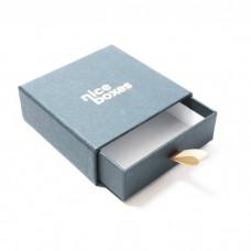 Smykkeeske Drawer Box 71x71x28 mm grå