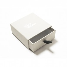Smykkeeske Drawer Box 71x71x28 mm hvit