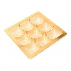 innlegg 125x125x20 mm 9 pr gull (100-pakke)