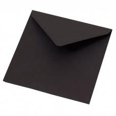 Konvolutt svart 155x155 mm, (100-pakke)