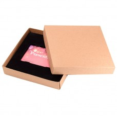 Gavekorteske Sober 125x125x25 mm naturlig brun (100-pakke)