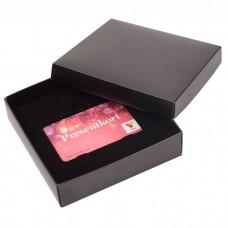 Gavekorteske Sober 125x125x25 mm svart (100-pakke)