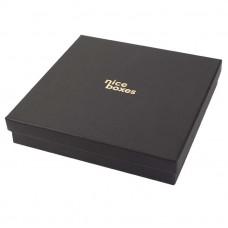 Smykkeeske Brilliance 133x133x32 mm svart
