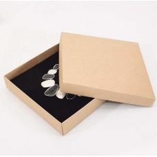 Smykkeeske Sober 160x160x32 mm naturlig brun (100-pakke)