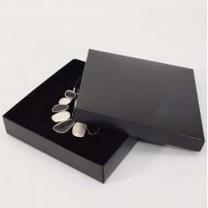 Smykkeeske Sober 160x160x32 mm svart (100-pakke)