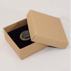Smykkeeske Sober 78x82x32 mm naturlig brun (100-pakke)