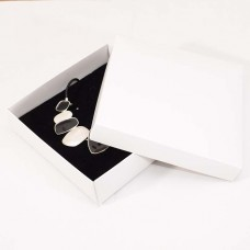 Smykkeeske Sober 125x125x32 mm hvit (100-pakke)
