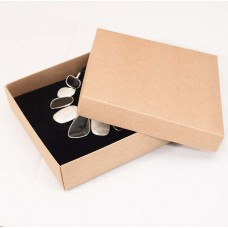 Smykkeeske Sober 125x125x32 mm naturlig brun (100-pakke)
