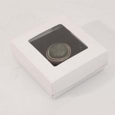 Smykkeeske Sober med vindu 78x82x32 mm hvit (100-pakke)