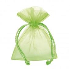 Smykkepose Organza green 90x80+40mm (10-pakke)